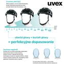 Kask Uvex Kid 3 Blackout blue regulacja 51-55 cm