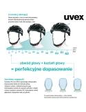 Kask Uvex Kid 2 Dolly regulacja 46-52 cm