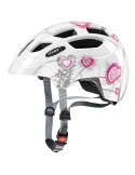 Kask Uvex Finale Junior Heart White Pink 51-55cm