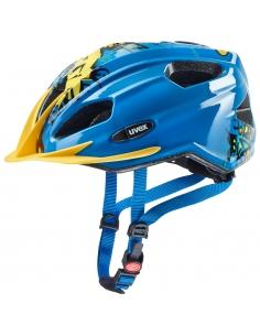 Kask Uvex Quatro Junior Blue Yellow 50-55cm