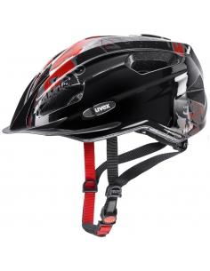 Kask Uvex Quatro Junior Black Red 50-55cm