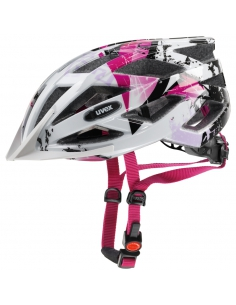 Kask Uvex Air Wing White Pink regulacja 52-57 cm