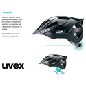 Kask Uvex Flash Black-White 52-57cm