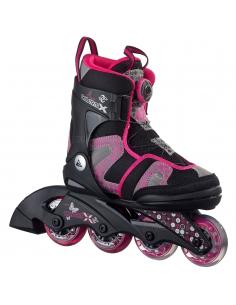 Rolki dziecięce K2 Charm X BOA Girls Black/Pink