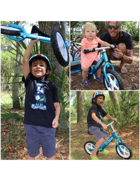 Rowerek biegowy Cruzee 12 niebieski czarne koła
