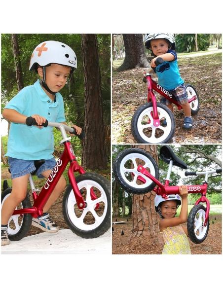 Rowerek biegowy Cruzee 12 czerwony czarne koła