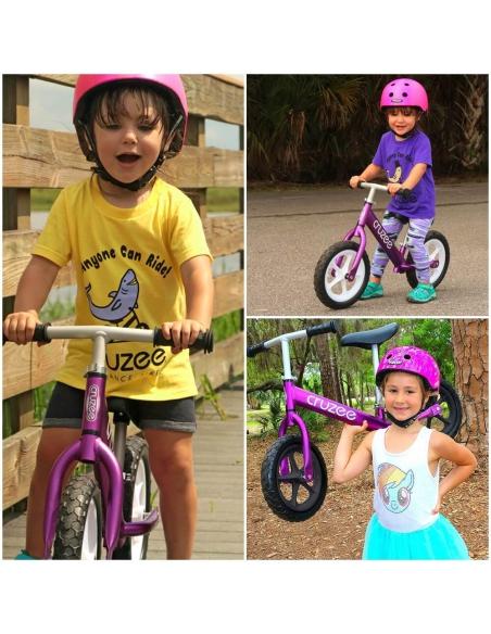 Rowerek biegowy Cruzee 12 fioletowy czarne koła