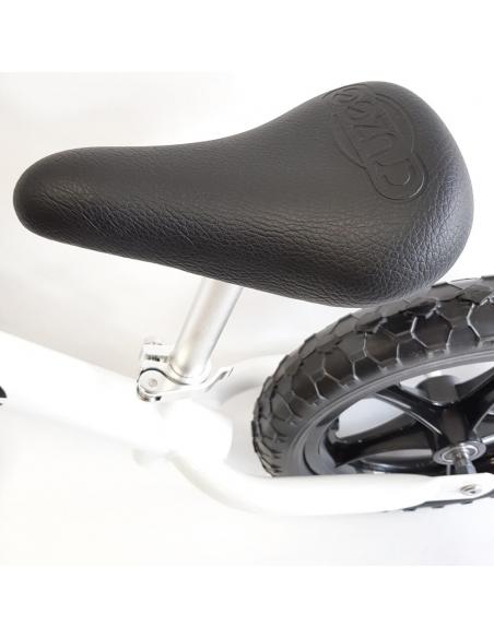 Rowerek biegowy Cruzee 12 SAFE biały czarne koła