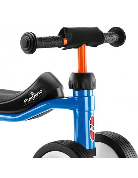 Jeździk rowerek czterokołowy Puky Pukylino niebieski z osłoną kierownicy