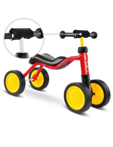 Jeździk rowerek czterokołowy Puky Wutsch czerwony z osłoną kierownicy