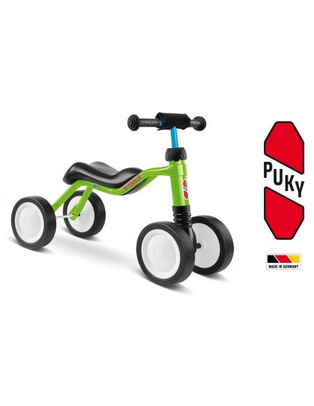 Jeździk rowerek czterokołowy Puky Wutsch zielony z osłoną kierownicy