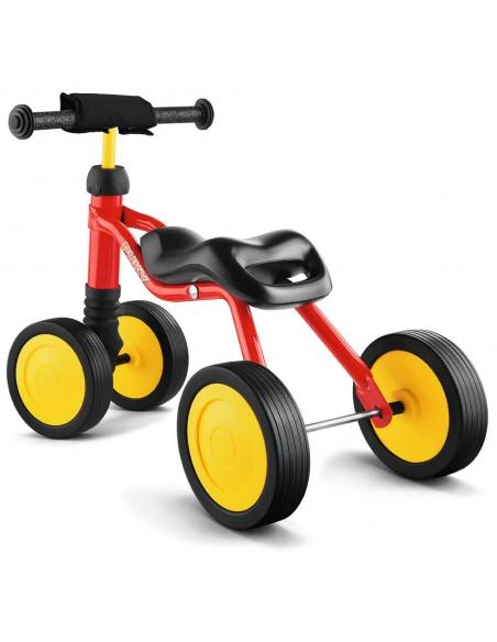 Jeździk rowerek czterokołowy Puky Wutsch jasnoszary z naklejkami i osłoną kierownicy