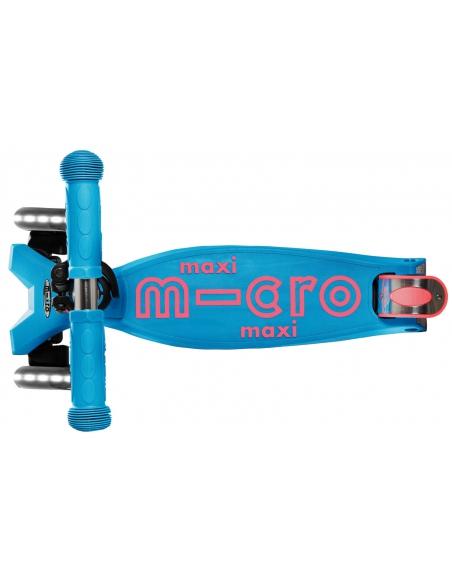 Hulajnoga Maxi Micro Deluxe Aqua LED