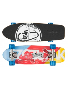 Deskorolka Cruiser Fish Skateboards Szczupak/Silver/Transparent-Blue