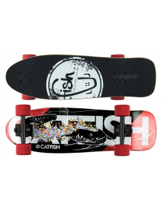 Deskorolka Cruiser Fish Skateboards CatFish/Black/Red