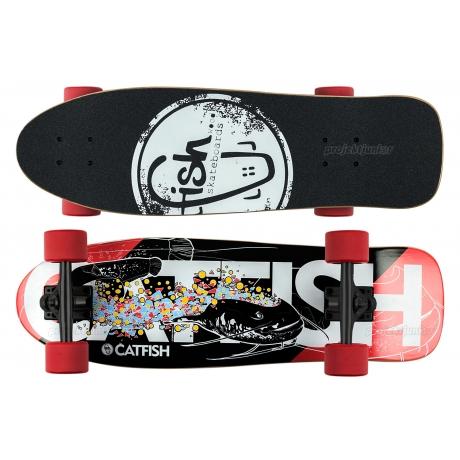 Deskorolka Cruiser Fish Skateboards CatFish/Black/Red