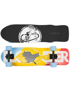 Deskorolka Cruiser Fish Skateboards Flounder/Black/Blue