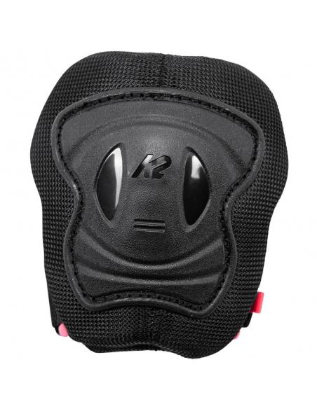 Zestaw dziecięcych ochraniaczy na kolana, łokcie, nadgarstki  K2 Marlee Pro Black/Coral