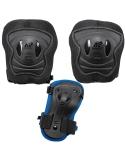 Zestaw dziecięcych ochraniaczy na kolana, łokcie, nadgarstki K2 Raider Pro Black/Blue