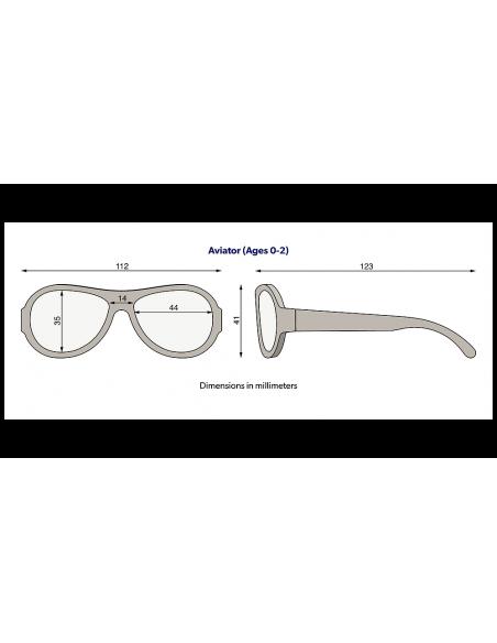 Okulary przeciwsłoneczne dla dzieci Babiators Original Aviator Sea Spray 3-5