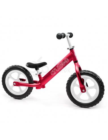 Rowerek biegowy Cruzee 12 czerwony białe koła
