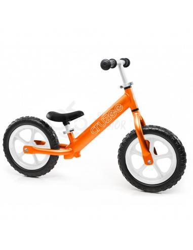 Rowerek biegowy Cruzee 12 pomarańczowy białe koła
