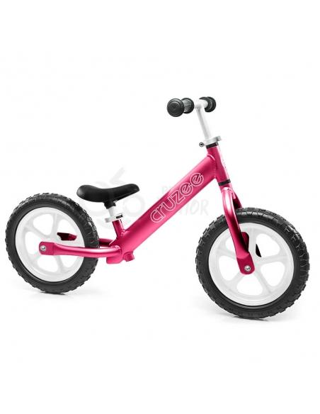 Rowerek biegowy Cruzee 12 różowy białe koła