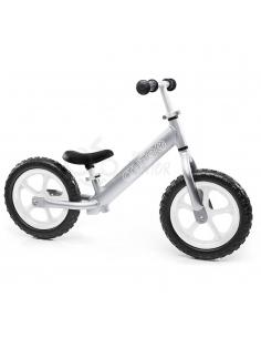 Rowerek biegowy Cruzee 12 srebrny białe koła
