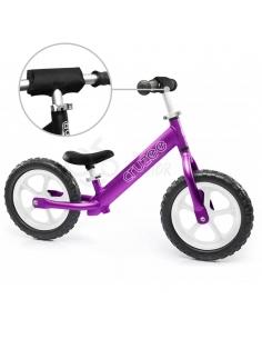 Rowerek biegowy Cruzee 12 SAFE fioletowy białe koła