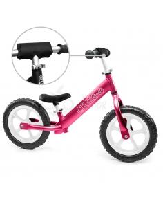 Rowerek biegowy Cruzee 12 SAFE różowy białe koła
