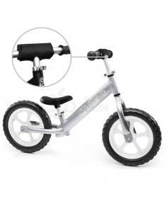Rowerek biegowy Cruzee 12 SAFE srebrny białe koła