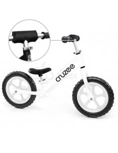 Rowerek biegowy Cruzee 12 SAFE biały białe koła
