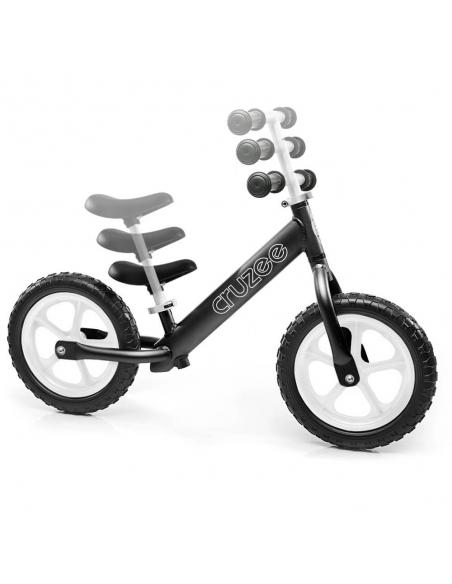 Rowerek biegowy Cruzee 12 czarny białe koła
