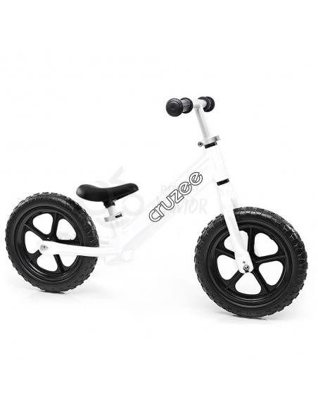 Rowerek biegowy Cruzee 12 biały czarne koła