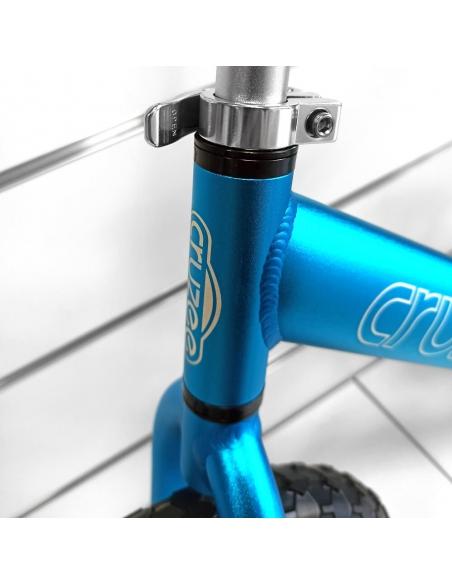 Rowerek biegowy Cruzee 12 SAFE niebieski białe koła