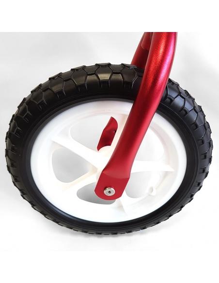 Rowerek biegowy Cruzee 12 SAFE czerwony białe koła