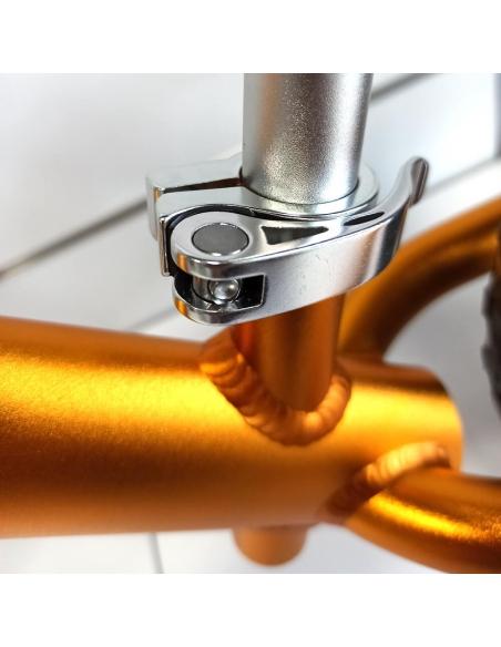 Rowerek biegowy Cruzee 12 SAFE złoty białe koła