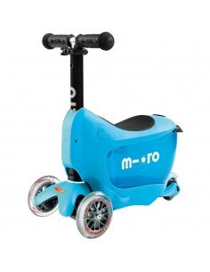 Jeździk i Hulajnoga Micro Mini2go Deluxe niebieski