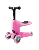 Jeździk i Hulajnoga Micro Mini2go Deluxe różowa