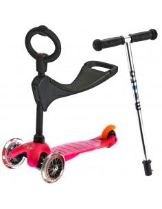 Hulajnoga i Jeździk Mini Micro Baby Seat 3w1 różowa
