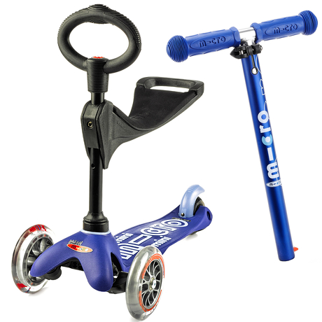Hulajnoga i Jeździk Mini Micro Deluxe 3w1 niebieska