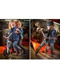 Rowerek biegowy Micro G-Bike Chopper srebrny