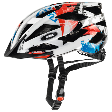 Kask Uvex Air Wing White Red regulacja 52-57 cm