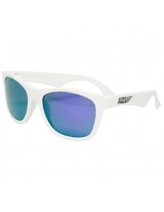 Okulary przeciwsłoneczne dla dzieci Babiators Aces Navigator Wicked White fioletowe szkła 6+