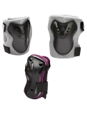 Zestaw ochraniaczy na kolana, łokcie, nadgarstki K2 Charm Pro Grey Violet