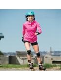 Zestaw damskich ochraniaczy na kolana, łokcie, nadgarstki K2 Performance Women Silver/Black/Blue