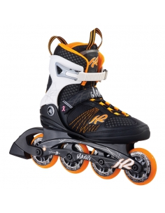 Rolki damskie K2 Alexis 80 Black/Orange