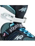 Rolki damskie K2 Alexis 80 Alu Black/Turquoise