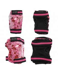 Ochraniacze Micro  - nałokietniki i nakolanniki różowe