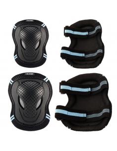 Ochraniacze Micro - nałokietniki i nakolanniki niebieskie